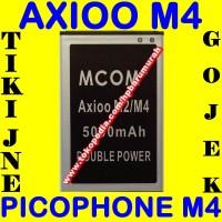 Baterai Axioo Picophone M4 MCOM M COM Batrai Batere Batre