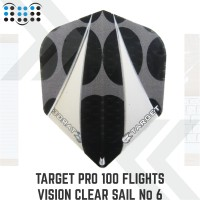 Target Pro 100 Flights Vision Clear Sail No 6 STD Bagged #300730