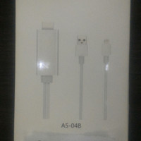 KABEL LIGHTNING IPHONE 5 6 IPAD 4 MINI AIR PRO KE HDMI LCD TV KW MURAH