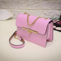 Fashion Korean Women Chain Shoulder Bag - Pink - intl