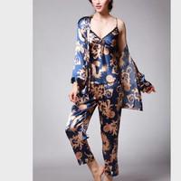 Piyama Satin Baju Tidur Wanita Premium Bajutidur Cantik Seserahan 013