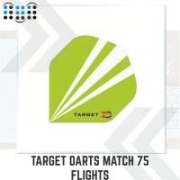 Target Darts Match 75 Flights - Striped Green Standard