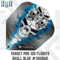 Target Pro 100 Flights Skull blue #300860