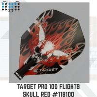 Target Pro 100 Flights Skull Red #118100