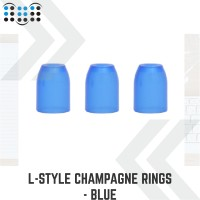 L-style Champagne Rings - Blue