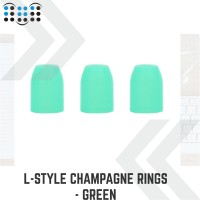 L-style Champagne Rings - Green