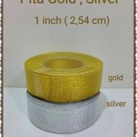 Pita Gold Silver (Emas Silver) 1 inch (2,54 cm)