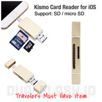 harga Dual Flashdisk Otg Iphone Kismo Memory Card Reader Sd Card Micro Sd Tokopedia.com