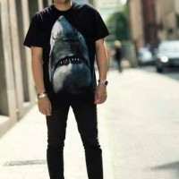 Kaos Givenchy Shark Black