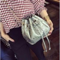 tas tenteng pundak shoulder bag warna silver keren gothic modis wanita
