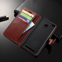 Leather Flip Cover Wallet Xiaomi Redmi 3 PRO 3s Prime Case dompet HP