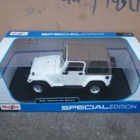 maisto 1:18 2014 jeep wrangler sahara white