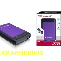Transcend Storejet 25H3 2TB HDD / HD / External Harddisk Antishock