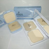 Paket bedak pixy twc cover smooth 1 mirror + 1 reffil