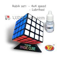 Rubik 4x4 BLACK Base, LICIN Sangat Cocok Utk Speed Magic Cube 4x4x4
