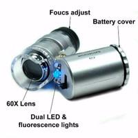 Jual READY Mikroskop 60x zoom mini ||Kaca pembesar batu cincin Murah