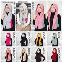 Hijab / Kerudung / Pashmina / Jilbab Instan Hoodie Rina Premium