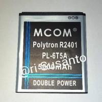 Baterai MCOM For Polytron R2401 Rocket 2X PL-6T5A Double Power 5000mAh