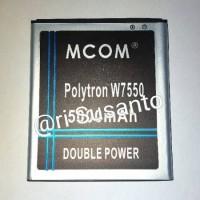 Baterai MCOM For Polytron Quadra V5 W7550 PL-7W6 Double Power 5000mAh