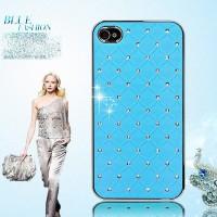 iPhone 4 4S 4G LIGHT BLUE HARD CASE Bling Crystal Diamond casing cover
