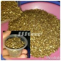 Hiasan kepingan batangan batu pasir coklat emas gold cake kue cupcake