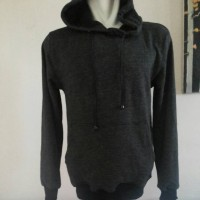 Jual Promo!!!Jaket SWEater Hoodie Twotone / twist - Hitam Murah