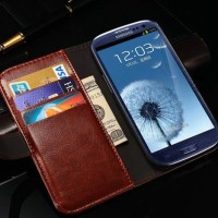 Samsung Galaxy GRAND DUOS  Wallet flip Cover Card Case Leather vintage