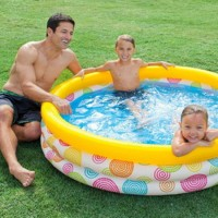 Kolam Renang Wild Geometry Pool for Kids 1.47mx33cm - INTEX 58439