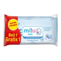 MITU Baby Wipes Extra Thick Blue 50s (B1G1 Free)