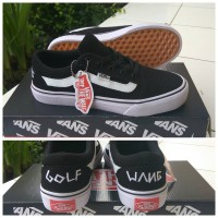 sepatu vans old skool golf wang black cp