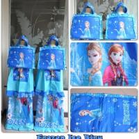 Mukena Anak Frozen Ice Biru (Size M) Termurah