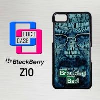 Casing Hp Blackberry Z10 Breaking Bad Typography X4131