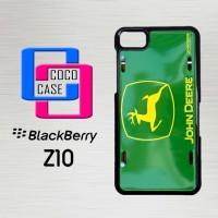 Casing Hp Blackberry Z10 John Deere Logo Metal License X4212