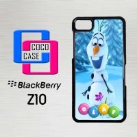 Casing Hp Blackberry Z10 Frozen snowman flower X4648