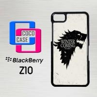 Casing Hp Blackberry Z10 Game Of Thrones Stark  X4382