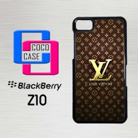 Casing Hp Blackberry Z10 Louis Vuitton Gold X4448