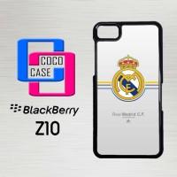 Casing Hp Blackberry Z10 Real Madrid Logo X4321