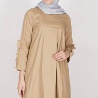 Atasan Muslim Tunik Tunic Jasinda Top Khaki Havva