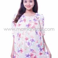 Baju Hamil Modis Katun Formal Motif Bunga Cantik 3/4 ( BLD 392 )