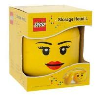 JUAL LEGO Storage Head Girl L (Large)