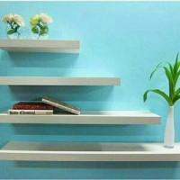 Jual 4pcs Rak dinding / Floating Shelf / Ambalan Murah