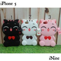 Grade A | Silikon Case 3D Cat For iPhone 5/5S