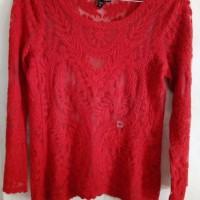 Jual Branded Blouse Lace Crochet Express Murah