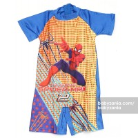 Babyzania Baju Renang Anak - Blue Yellow Polka The Amazing Spiderman 2