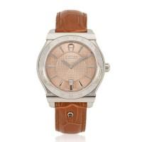 JUAL JAM AIGNER Men A24116B Bolzano Leather Watch Brown ORIGINAL ASLI