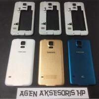 Casing Fullset Samsung S5 i9600 G900F Housing Bezel Backdoor Tulangan