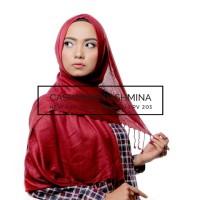 Hijab Pashmina Cashmere Import MAROON 75x180cm, Tdk Panas, Nyaman COOL
