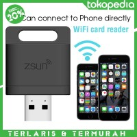 Zsun Wifi Card Reader Usb 2.0 Microsd For Tablet Pc/Ipad/Iphone/Andro