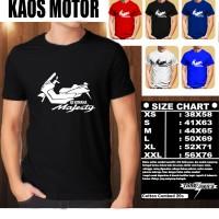 KAOS OTOMOTIF MOTOR YAMAHA MAJESTY SILUET TS/Tshirt Balap/Baju Pria