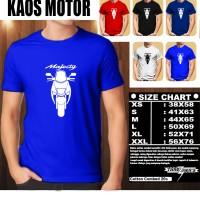KAOS OTOMOTIF MOTOR YAMAHA MAJESTY SILUET TD/Tshirt Balap/Baju Pria
